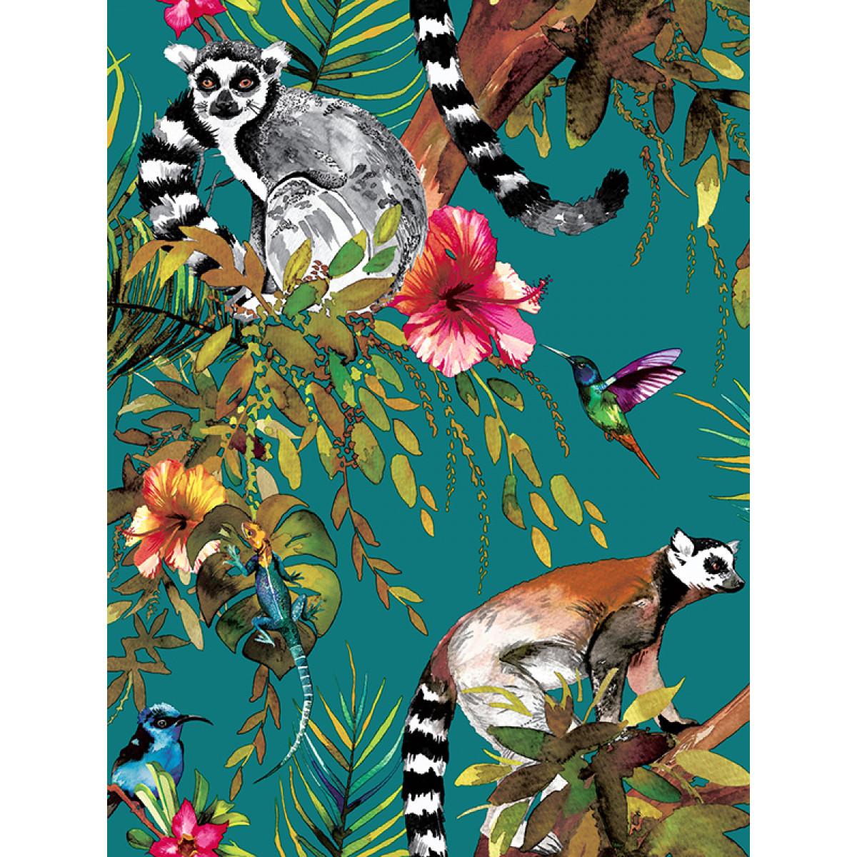 Most Inspiring Lemur Wallpaper - hld044_lemur_wallpaper_teal_p1  Picture_556052.jpg