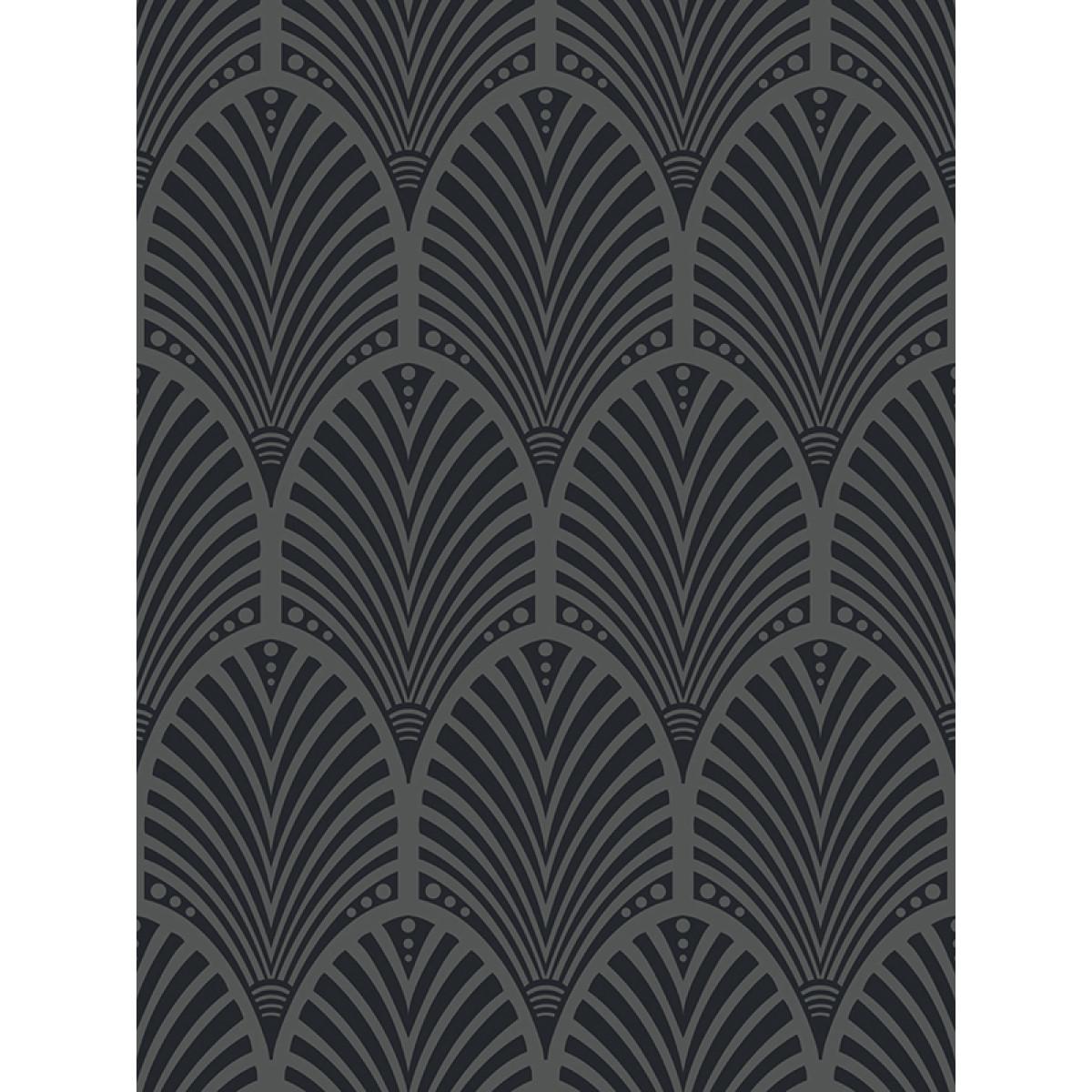 Gatsby Art Deco Wallpaper Charcoal Holden Decor 65250