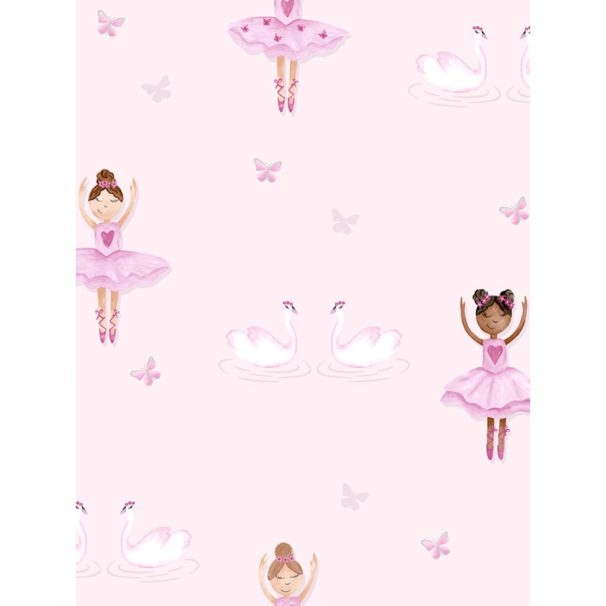 ballerina wallpaper pink holden 12460 bedroom