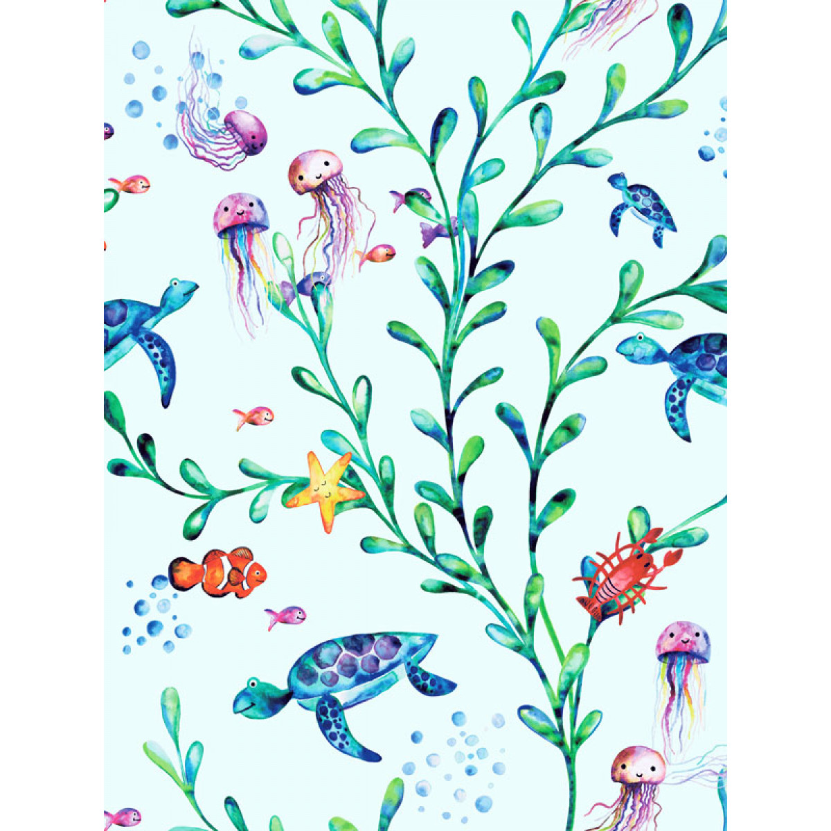 LAGOON FISH WALLPAPER NEW TEAL 12171 HOLDEN