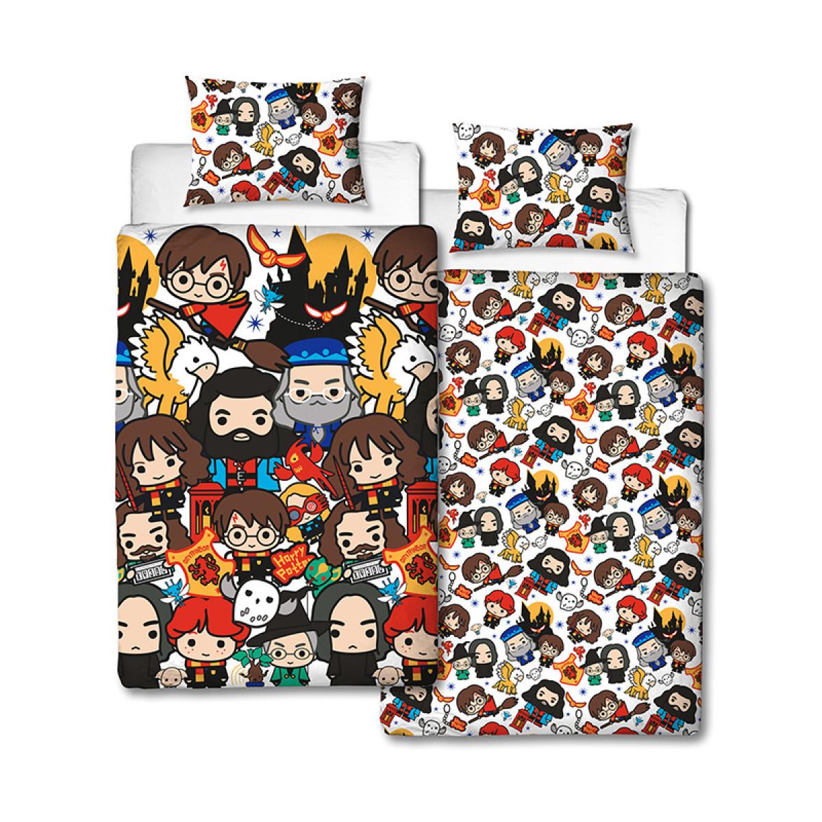 Harry Potter Charm Single Duvet Cover And Pillowcase Set
