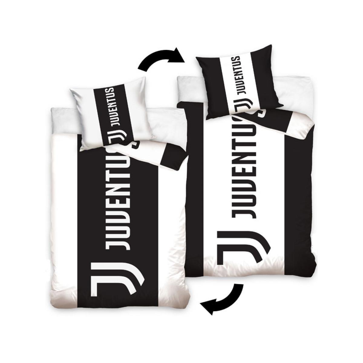 Juventus Fc Stripe Single Cotton Duvet Cover Set Bedroom