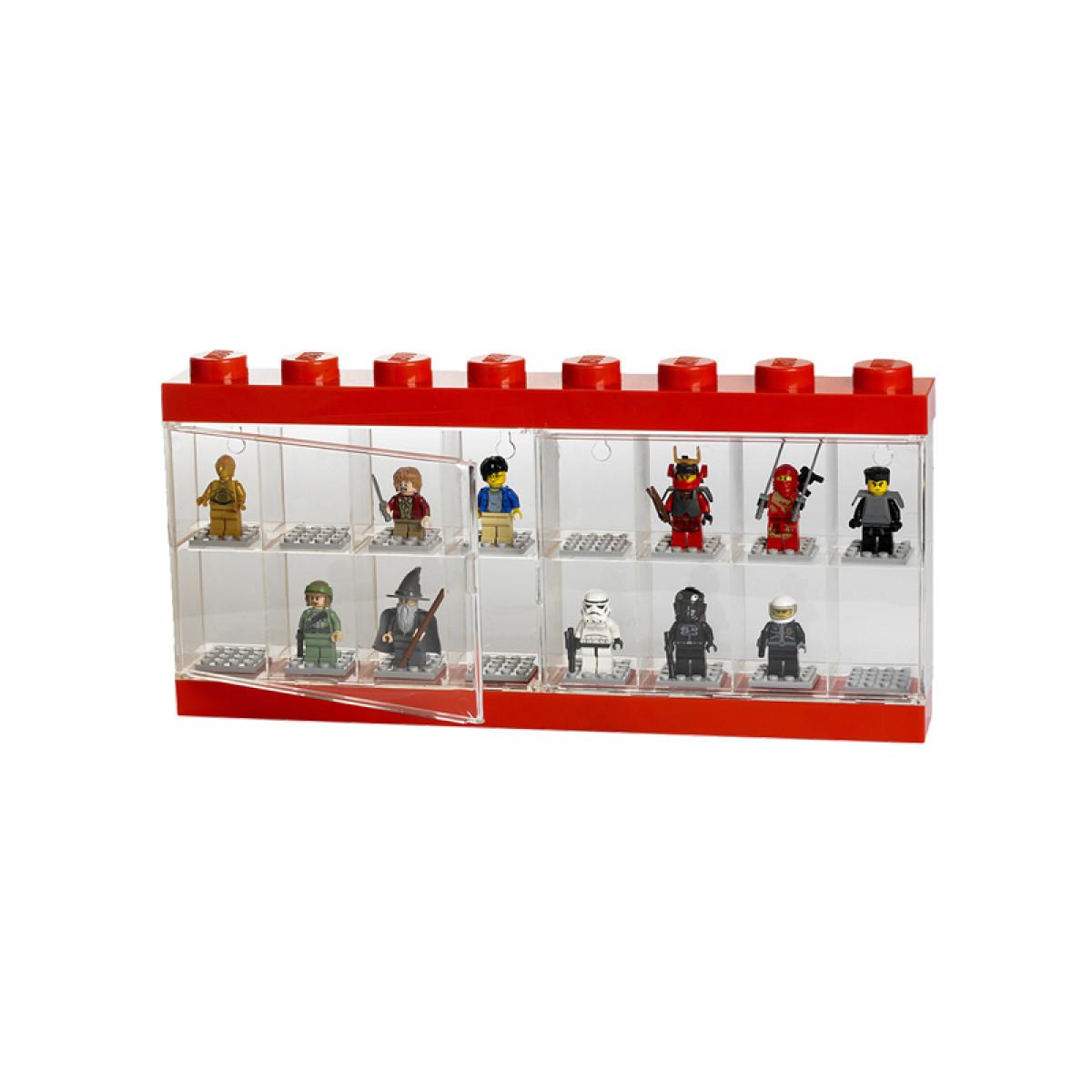 Lego Large Minifigure Display Case Red Storage