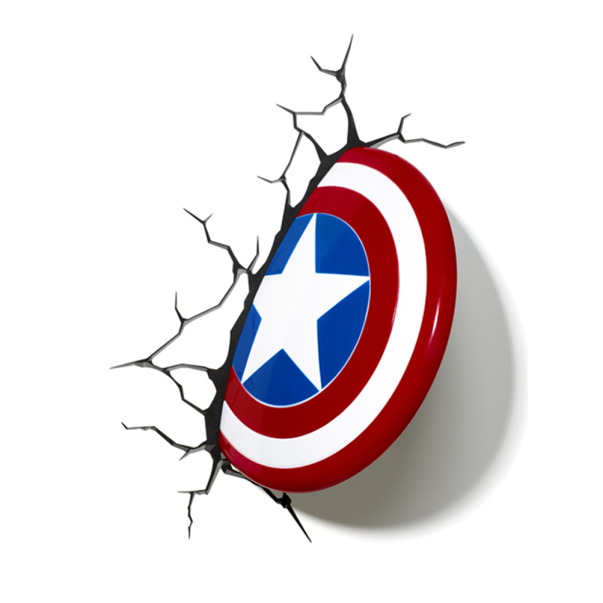 Price Right Home Marvel Captain America Shield 3d Led