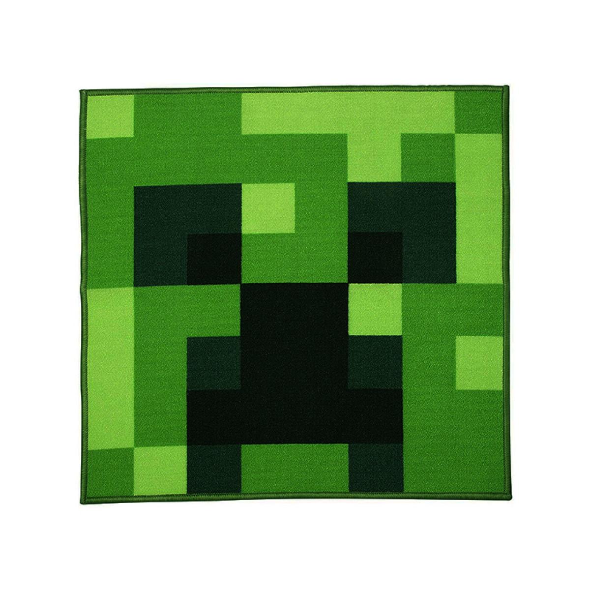 Alfombra Cuadrada Minecraft Creeper Habitaci 243 N