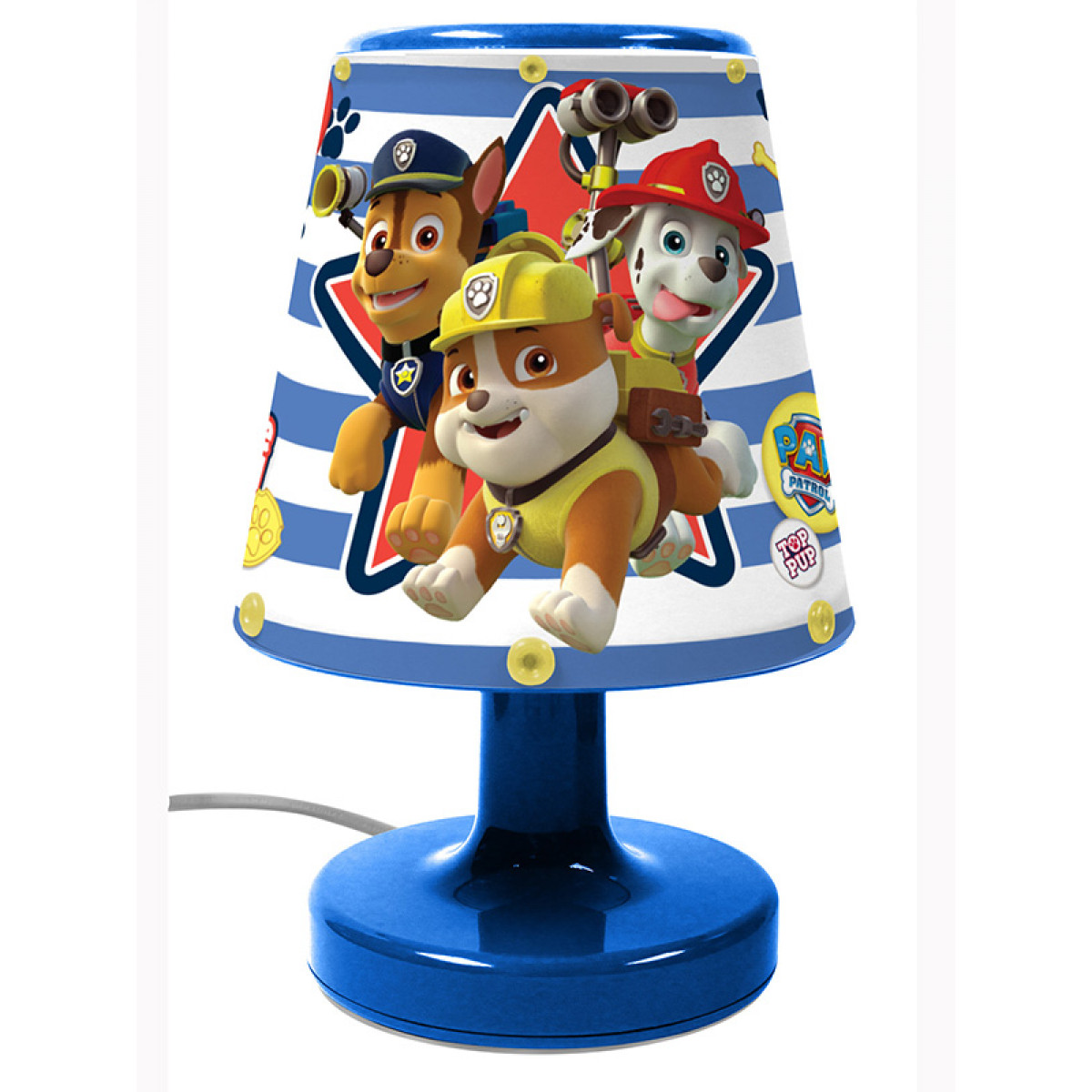 Paw Patrol Bedside Lamp Light Kids Bedroom Lighting