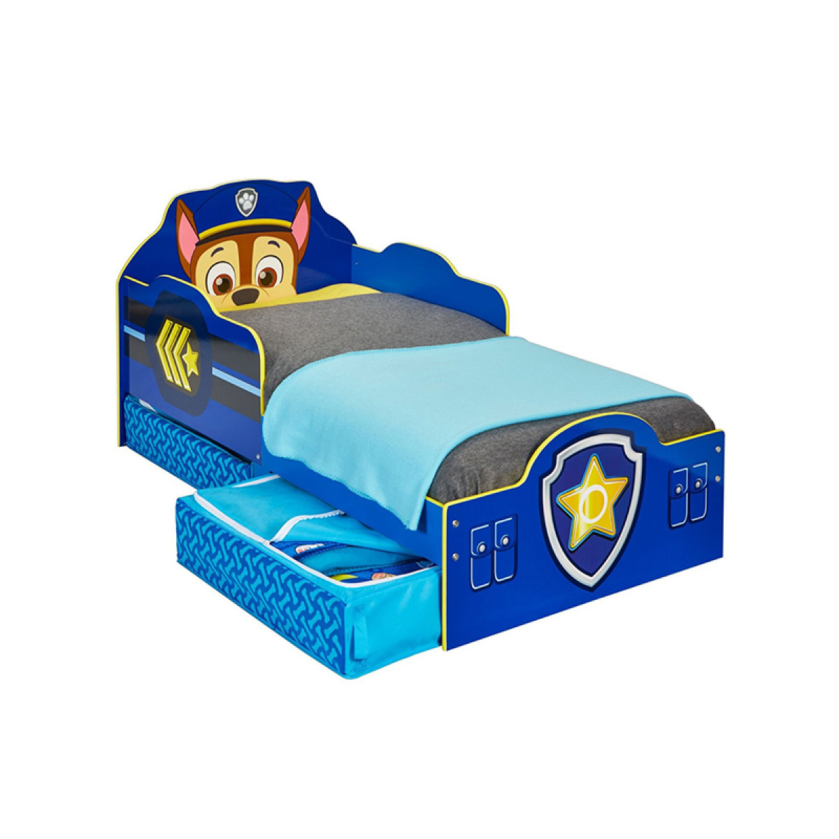 Paw Patrol Chase Toddler Bed With Storage Bedroom