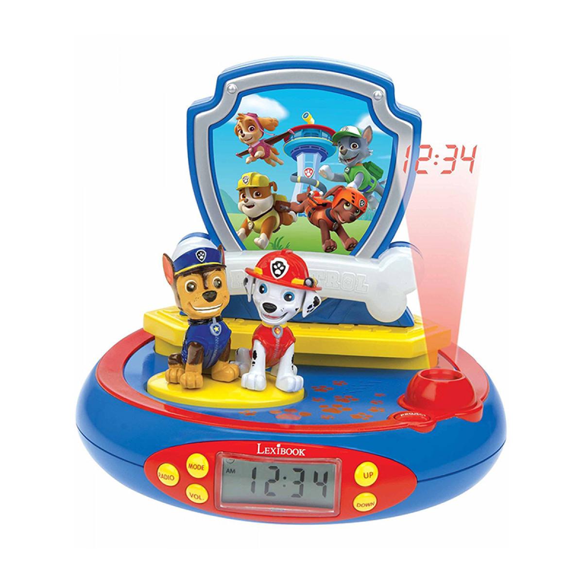 Paw Patrol Radio Alarm Clock Projector Bedroom