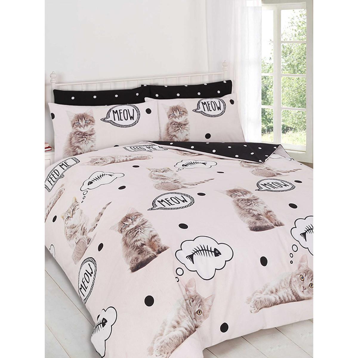 Kittens Double Duvet Cover Bedding Bedroom Cat