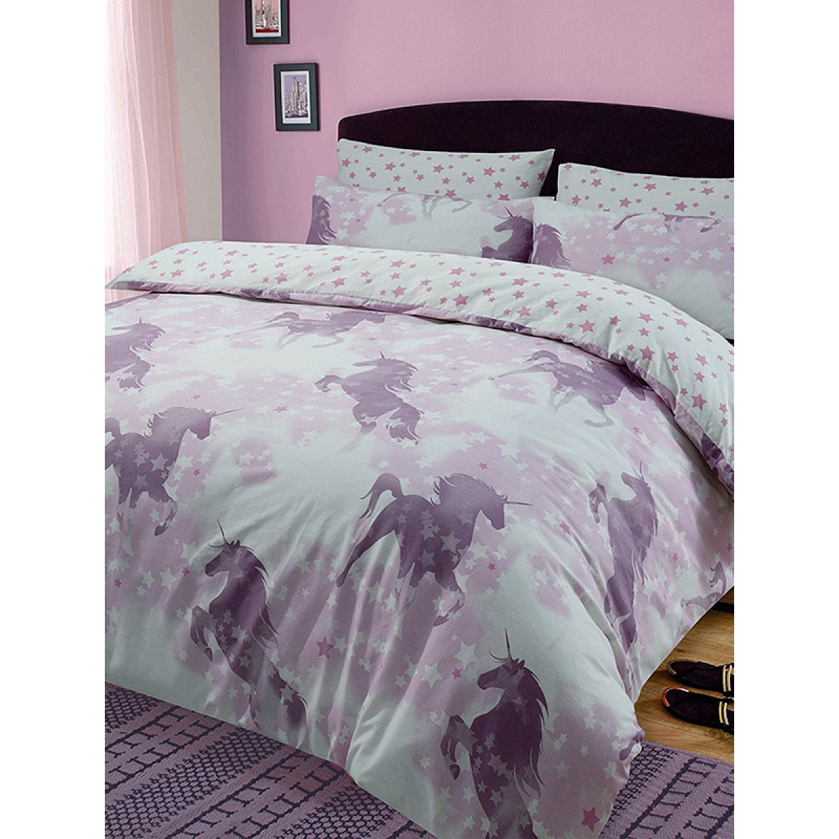 Unicorn Dreams Double Duvet Cover And Pillowcase Set