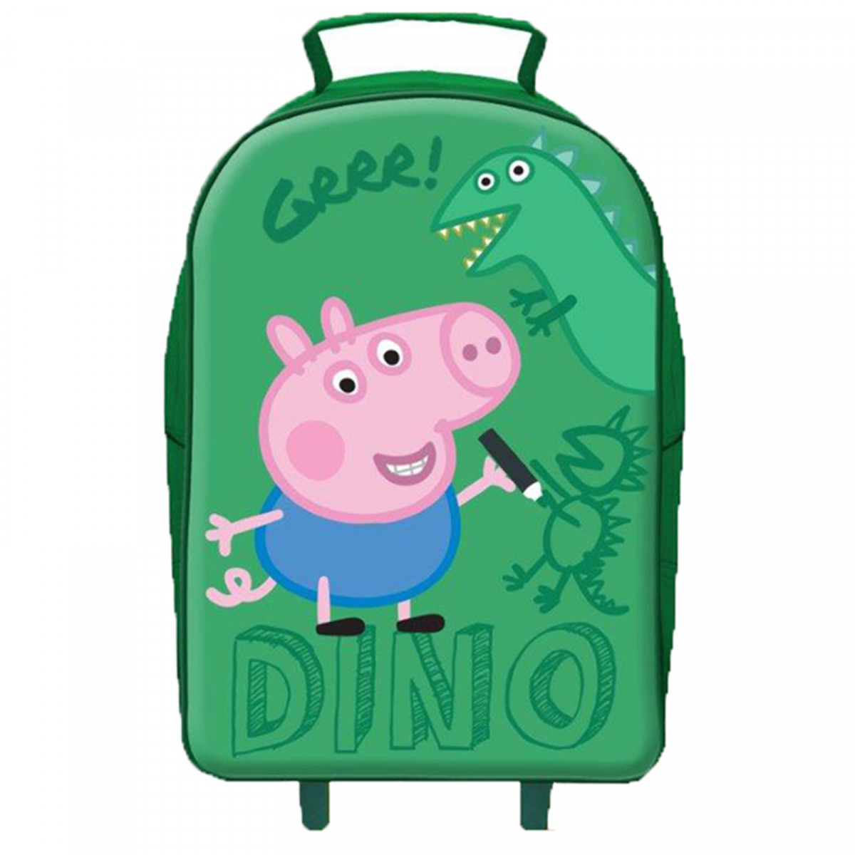 Peppa Pig George Wheeled Trolley Bag Luggage