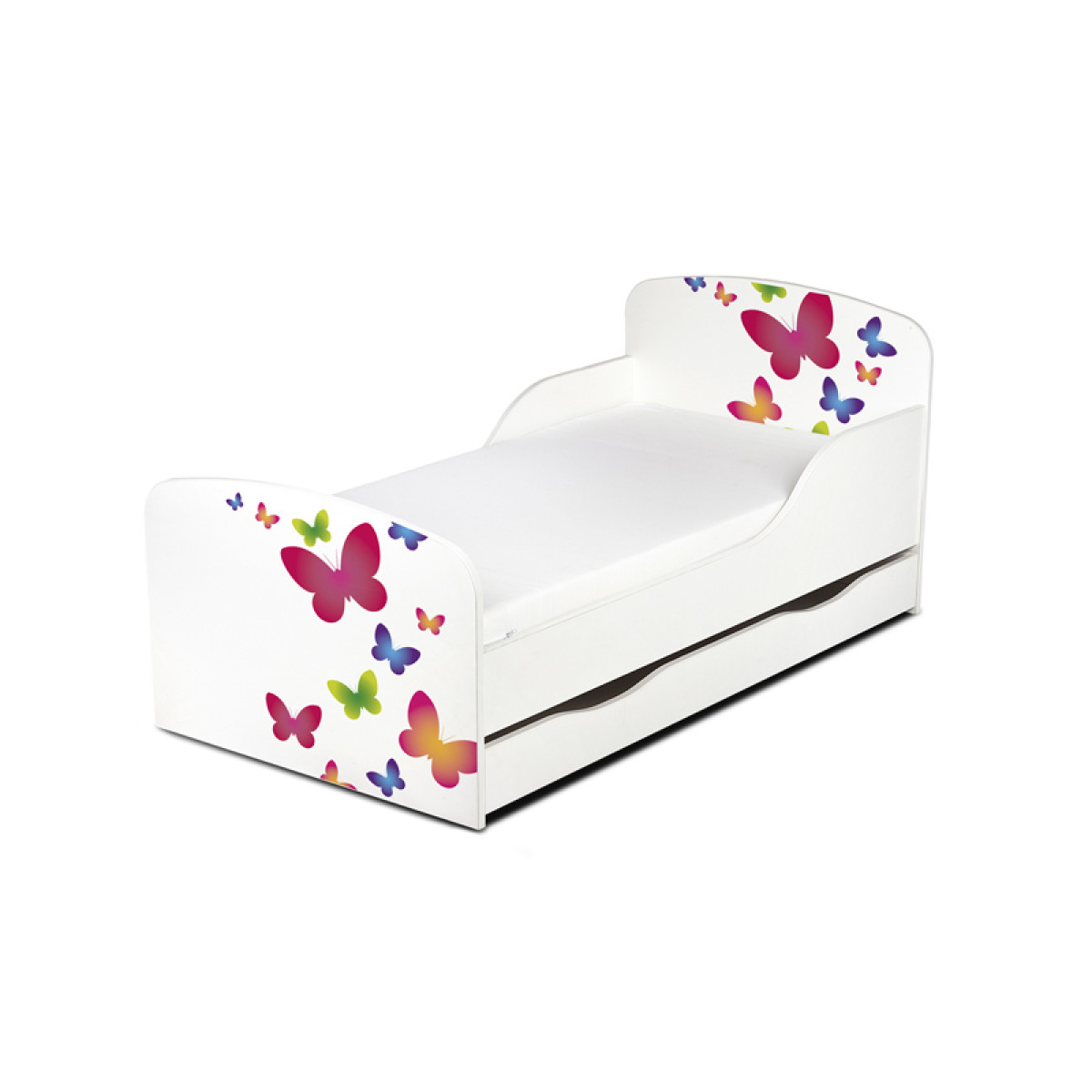 PriceRightHome Butterflies Toddler Bed with Underbed Storage