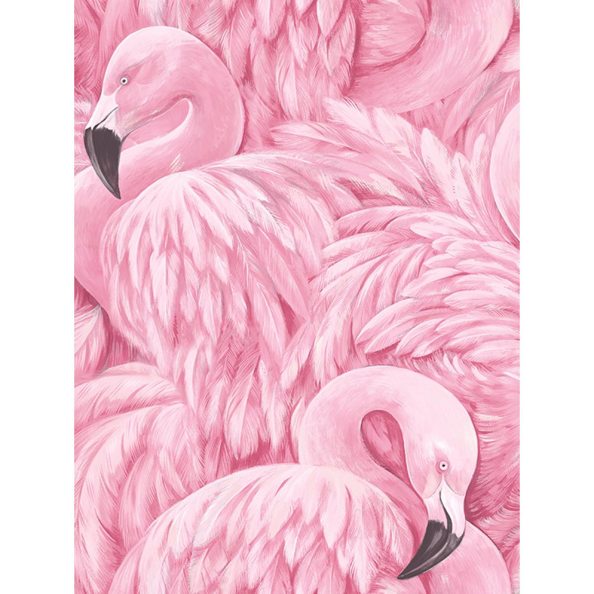 Flamingo Wallpaper Pink Rasch 277890 Feature Decor