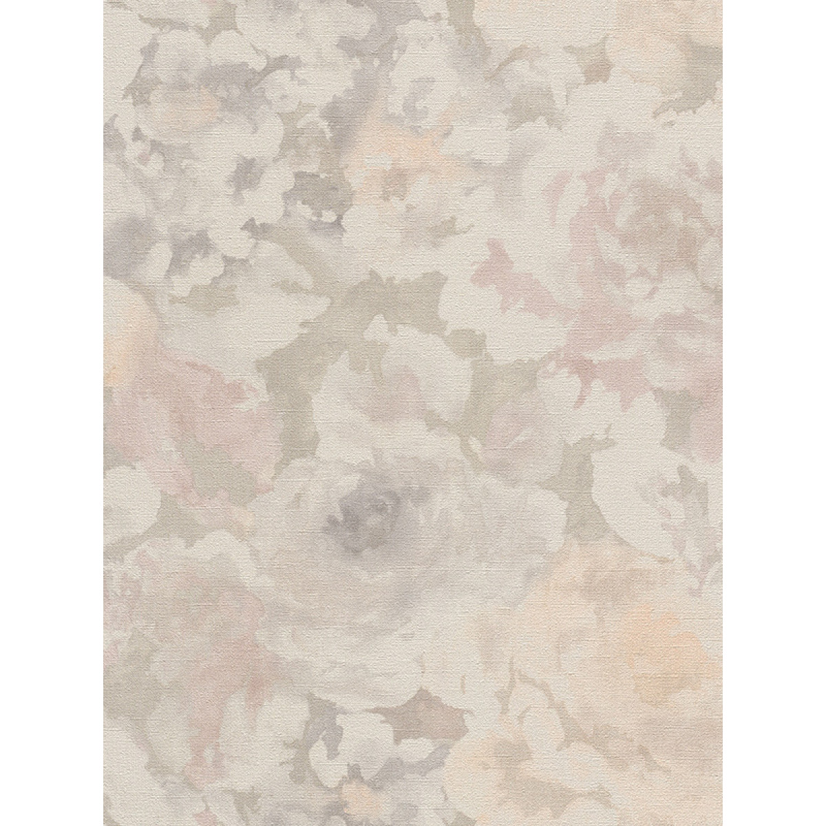 Florentine Floral Fabric Effect Wallpaper Grey And Pale