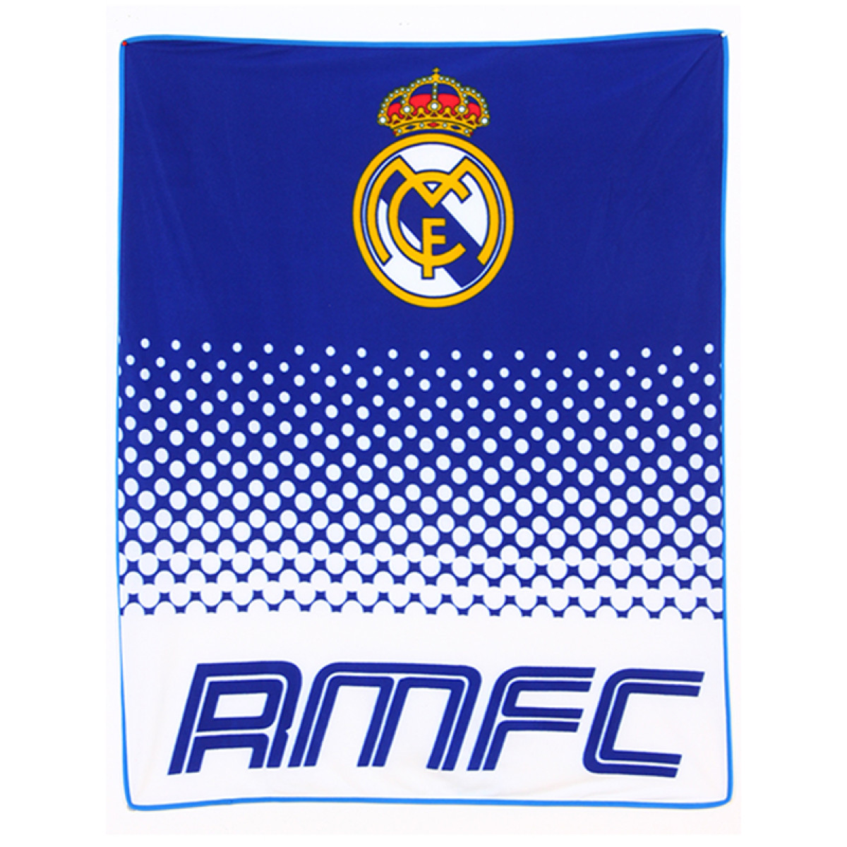Real Madrid Cf Fade Fleece Blanket Football Bedroom