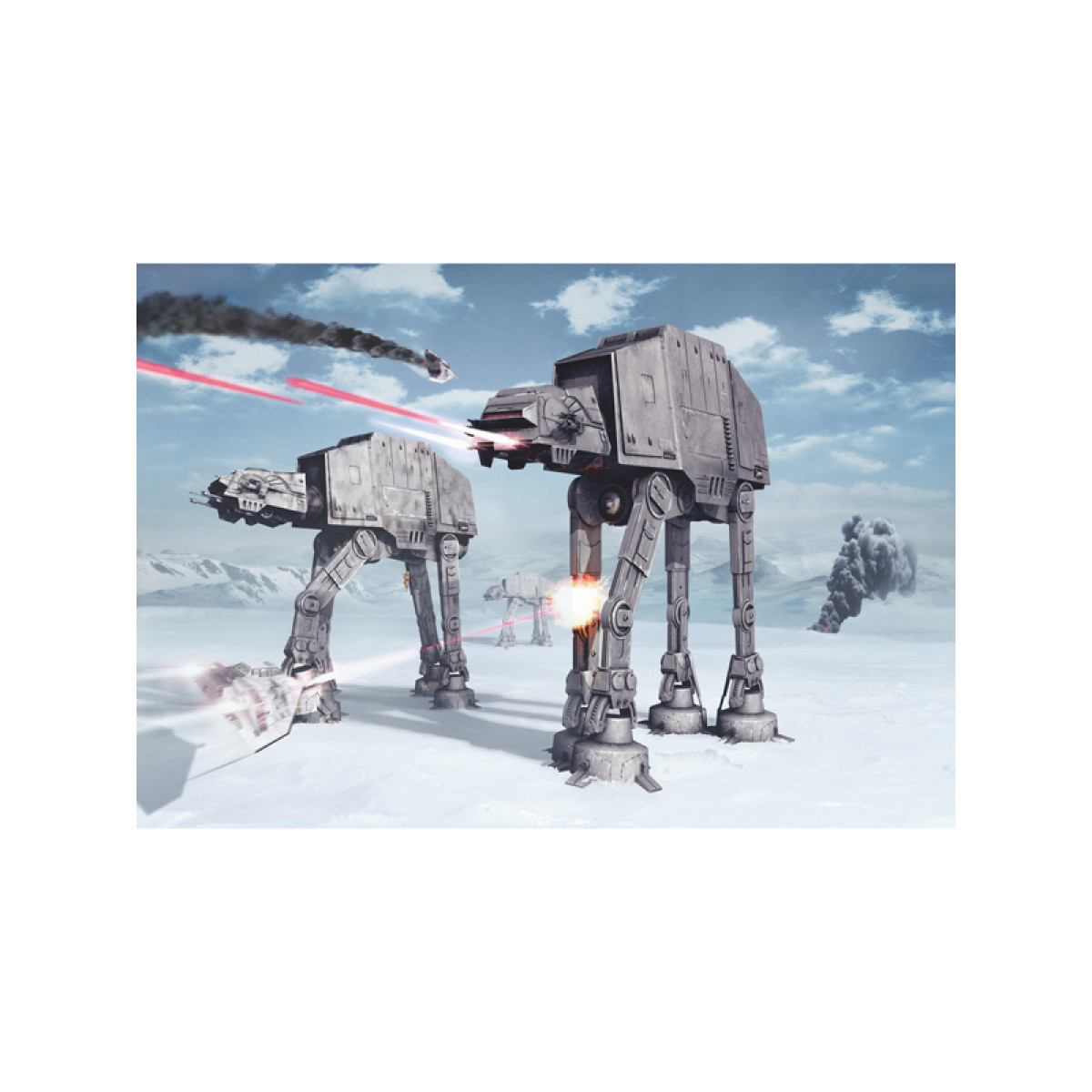 star wars battle of hoth wall mural x. Black Bedroom Furniture Sets. Home Design Ideas
