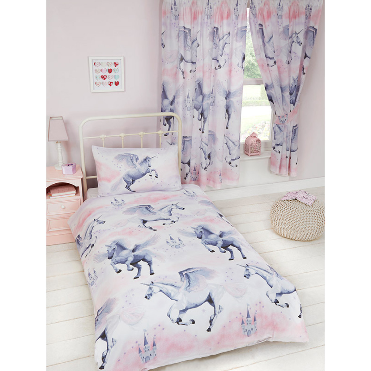 Stardust Unicorn Junior Duvet Cover Bedding Bedroom Quilt