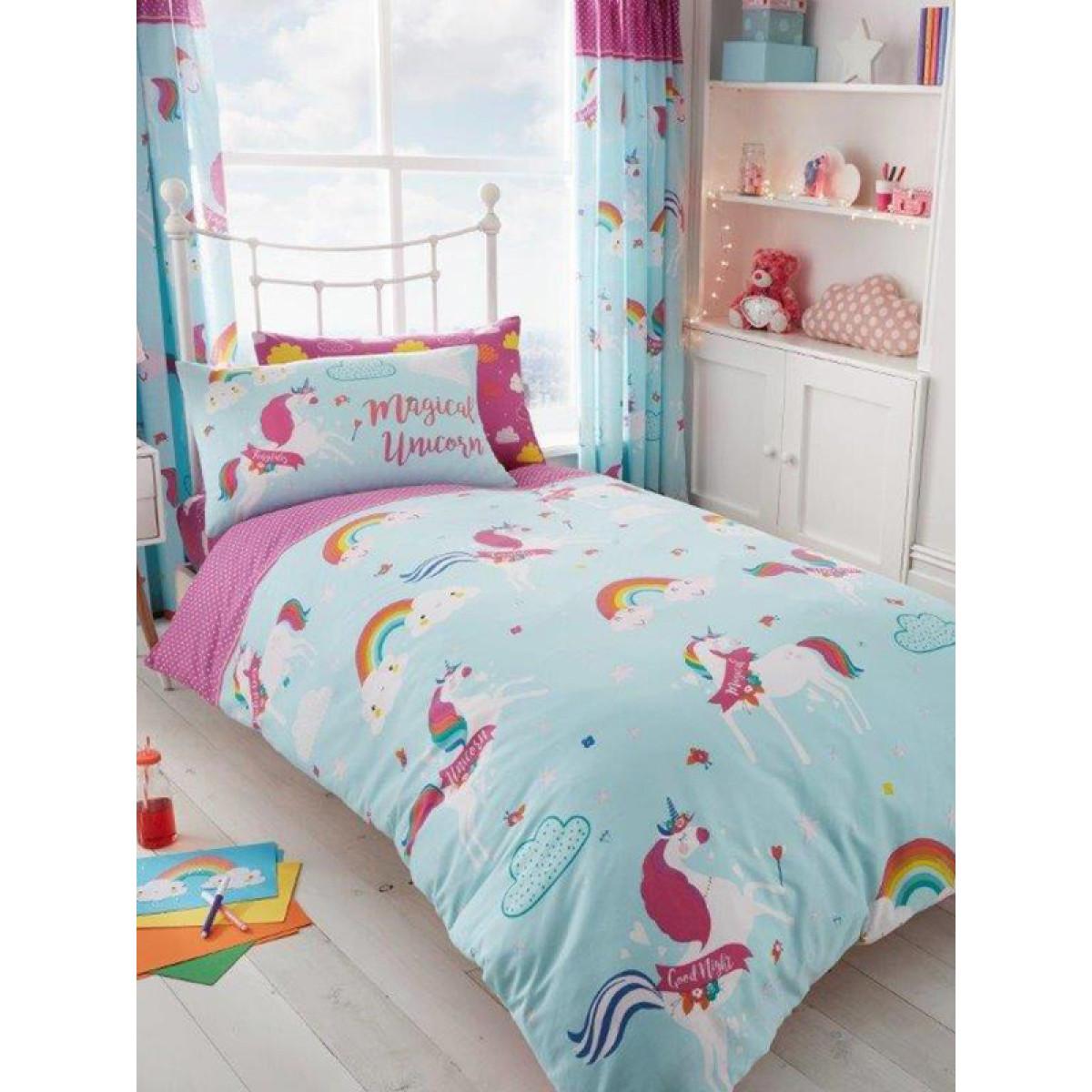 Unicorn Clouds Single Duvet Cover Bedding Bedroom