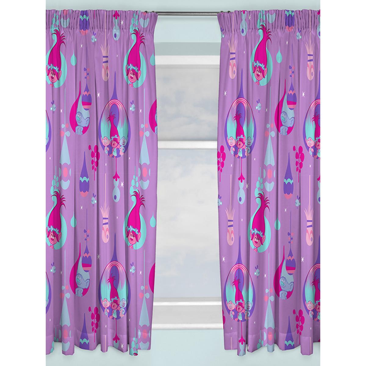 Trolls Curtains Bedroom Poppy Furnishings