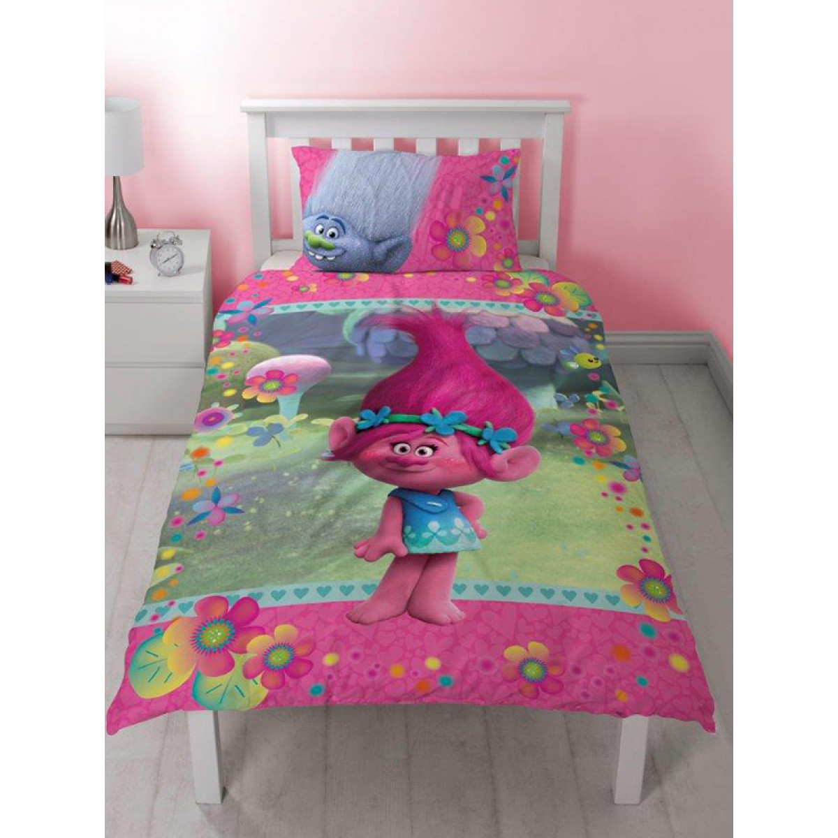 trolls quest single duvet cover and pillowcase set