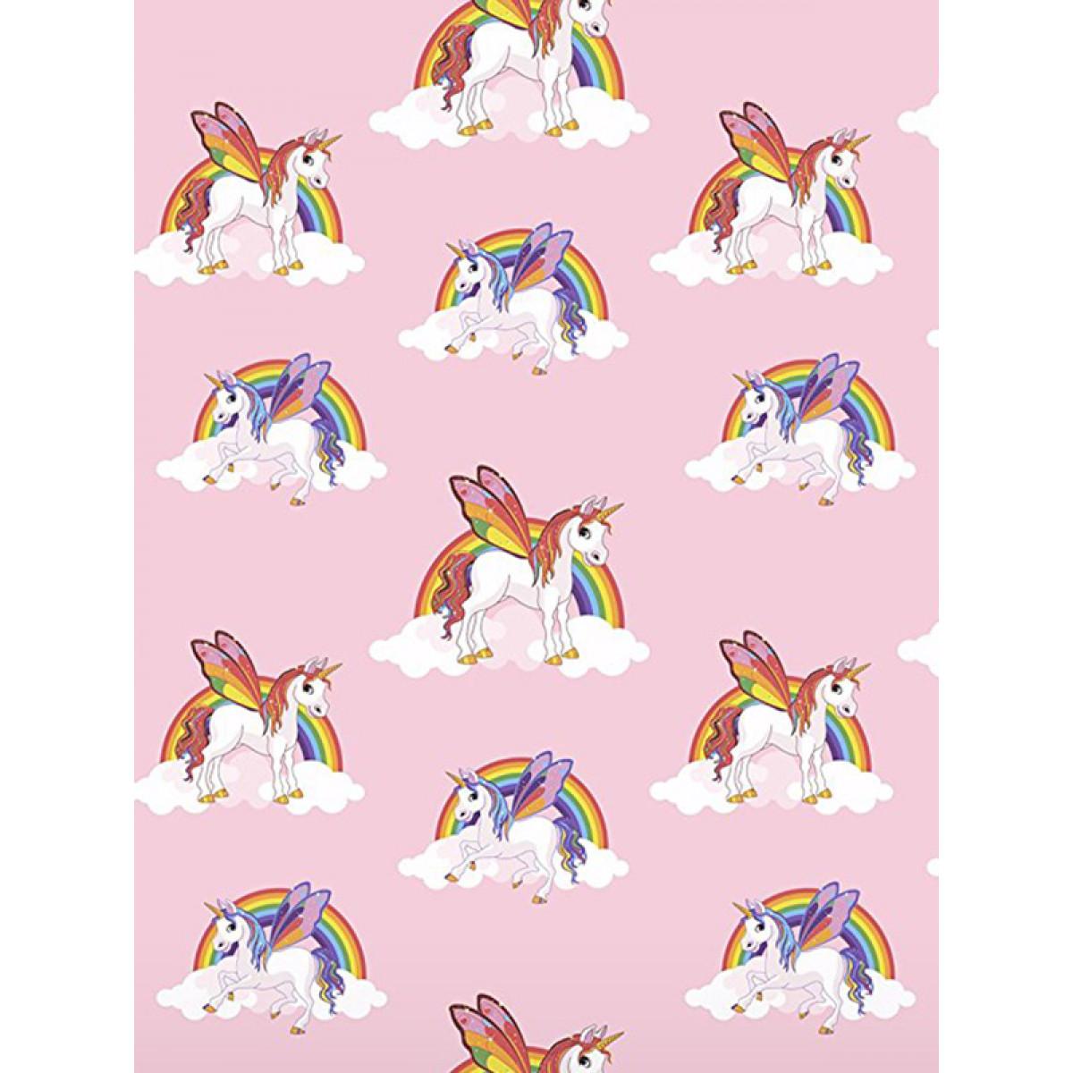 Rainbow Unicorns Wallpaper Pink 6303 Bedroom