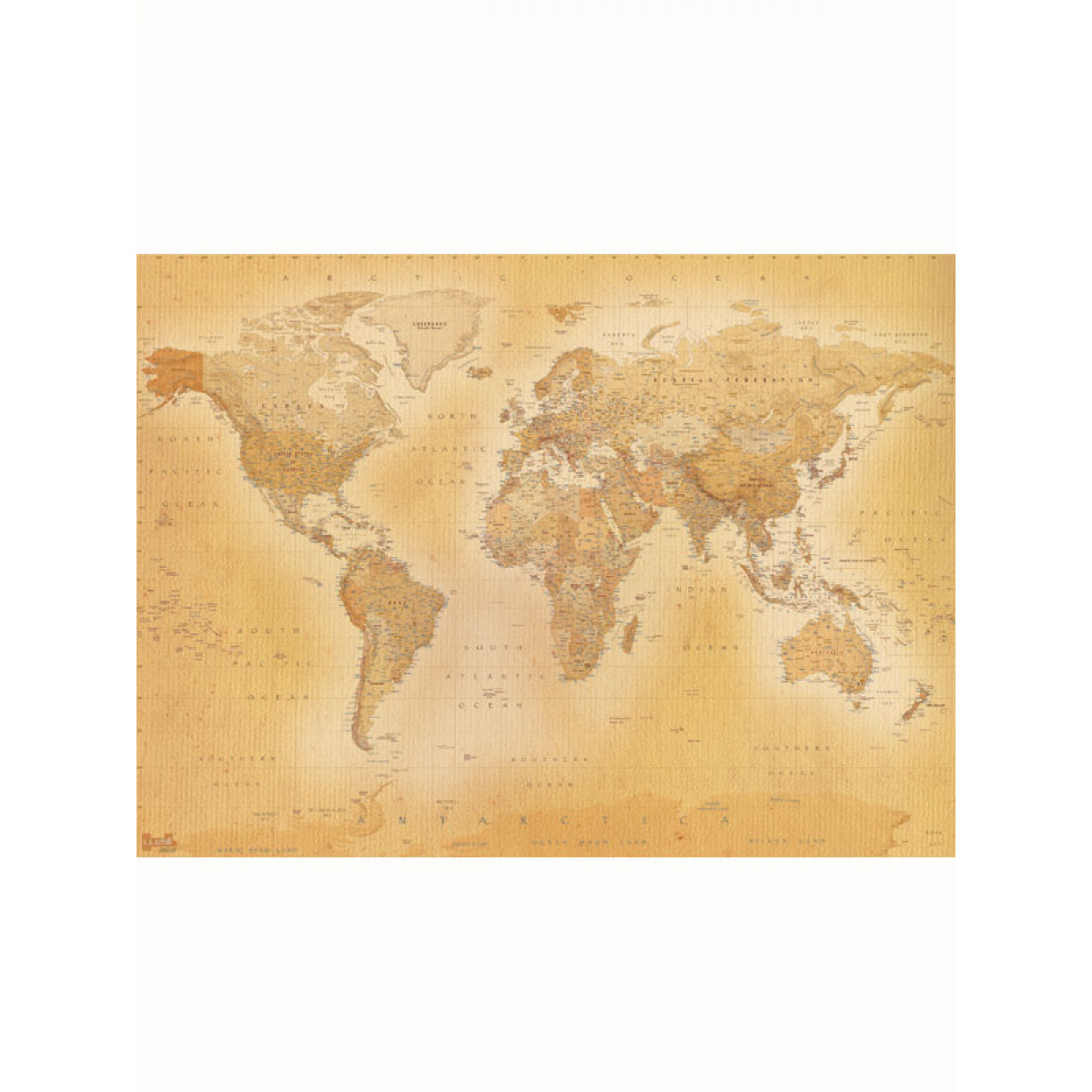 vintage world map wall mural 2 32m x 1 58m