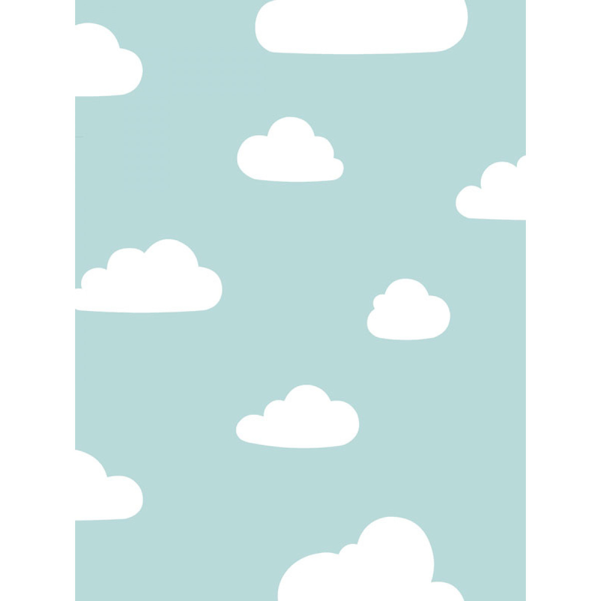 Clouds Wallpaper Soft Teal White World Of Wallpaper A618 Cao 6