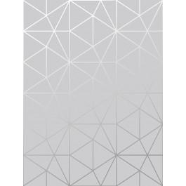 Metro Prism Geométrico Triángulo Fondo De Pantalla Gris Y Plata Wow006