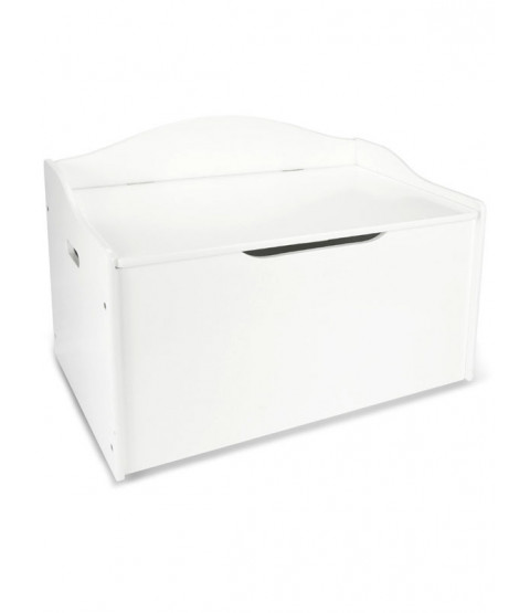 Large White Wooden Toy Box