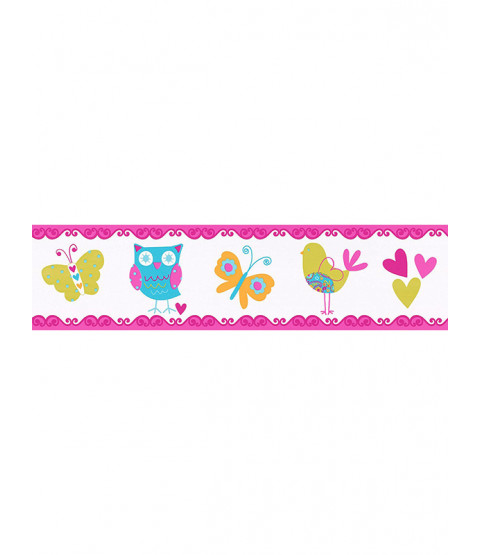 Owl, Bird and Butterfly Self Adhesive Wallpaper Border