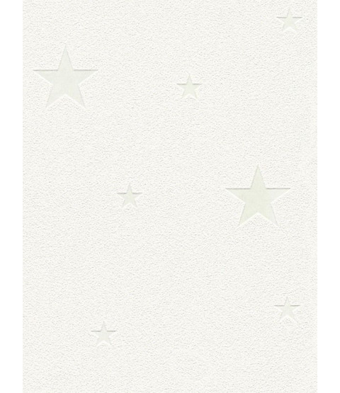 Glow in the Dark Stars Wallpaper White - AS Creation 32440-1