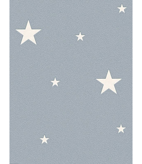 Glow in the Dark Stars Wallpaper Grey - AS Creation 32440-3