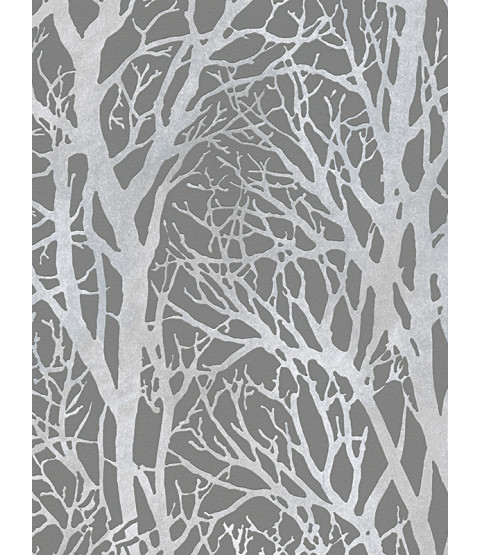 Tree Branches Wallpaper Dark Grey and Silver - AS Creation 30094-3