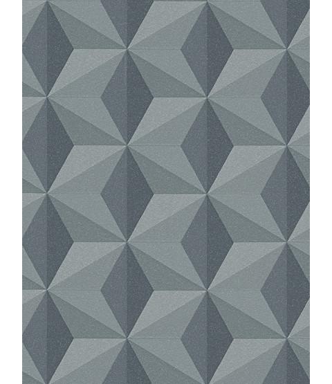 Geometric Wallpaper Dark Grey - AS Creation 96255-2