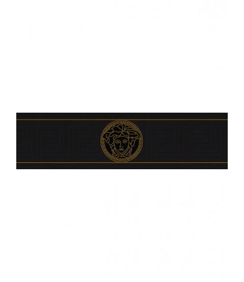 Versace Borde de la llave griega - Negro 935224