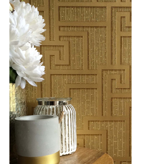 Gold Versace Parvus Greek Key Wallpaper - 10m x 70cm 96236-1
