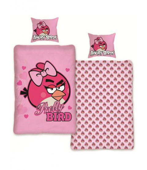 Juego de funda nórdica y funda de almohada Angry Birds Pink - Pretty Bird