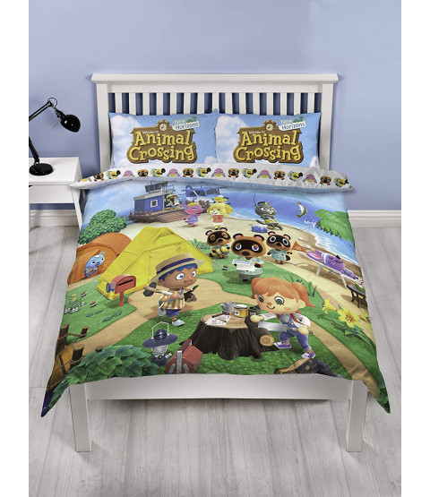 Animal Crossing Double Duvet Cover and Pillowcase Set