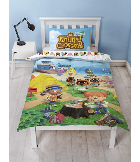 Animal Crossing Single Duvet Cover and Pillowcase Set