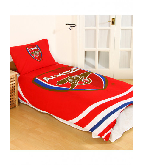 Arsenal FC Pulse Single Duvet Cover and Pillowcase Set