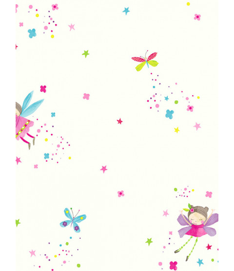 Fairy Dust Glitter Wallpaper - Bianco - Arthouse 667101