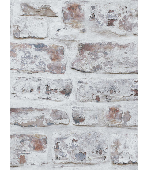 Whitewashed Wall Wallpaper - White - 671100 Arthouse