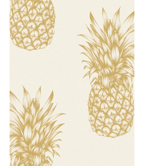 Tropics Gold Copacabana Pineapple Wallpaper - Arthouse 690901