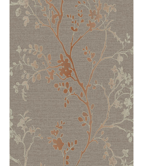 Precious Metals Orabella Wallpaper - Copper - Arthouse 673400