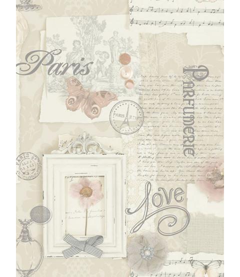 Felicity Paris Wallpaper - Natural - Arthouse 665400