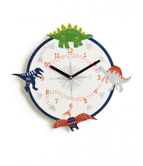 Reloj de pared de dinosaurio Dino Doodles