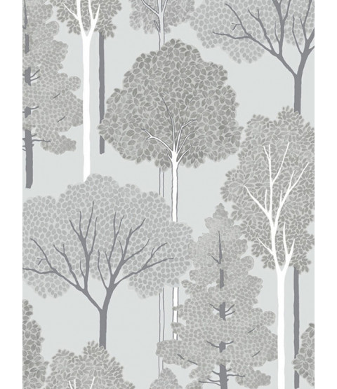 Arthouse Ellwood Trees Wallpaper - Silver - 670002