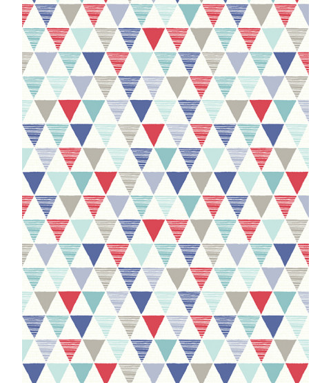 Jester Geometric Wallpaper Red Blue Arthouse 696007