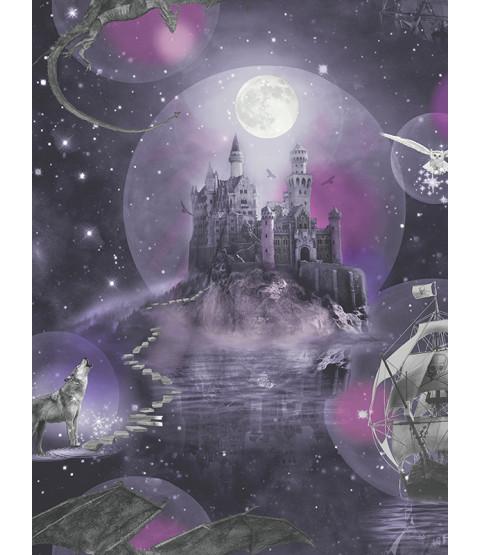 Magical Kingdom Wallpaper Purple Arthouse 696101