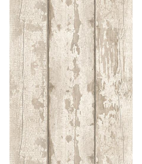 Carta da parati in legno lavato bianco Arthouse 694700